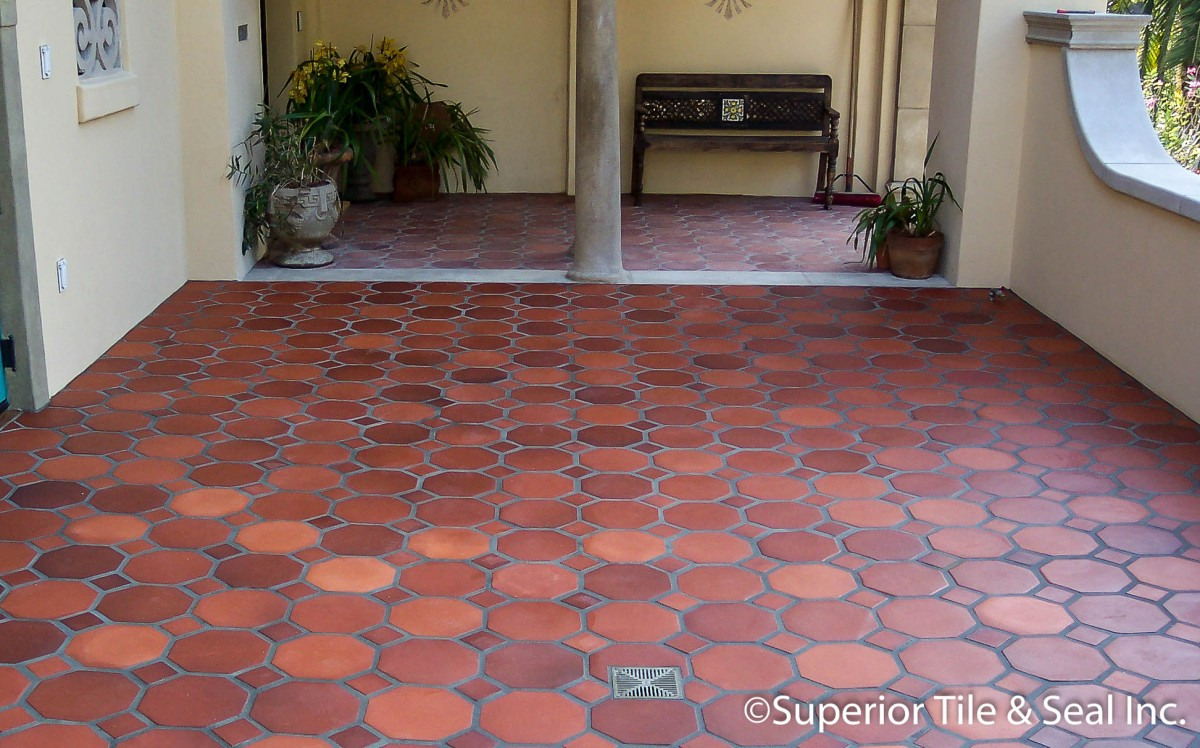 Photo of Hexagonal Terracotta Patio tiles in Los Angeles « Superior ...